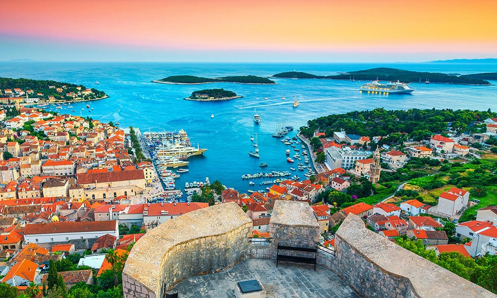Hvar island photo from fortress